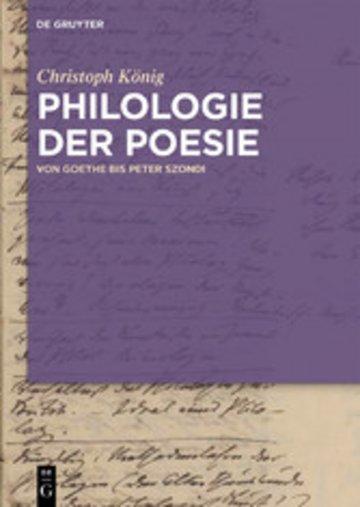 eBook Philologie der Poesie Cover