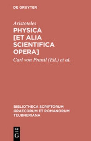 eBook Physica [et alia scientifica opera] Cover