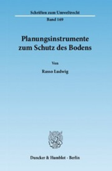 eBook Planungsinstrumente zum Schutz des Bodens. Cover