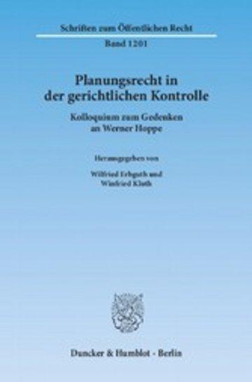 eBook Planungsrecht in der gerichtlichen Kontrolle. Cover