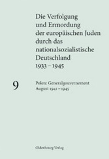 eBook Polen: Generalgouvernement August 1941 - 1945 Cover