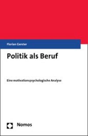 eBook Politik als Beruf Cover