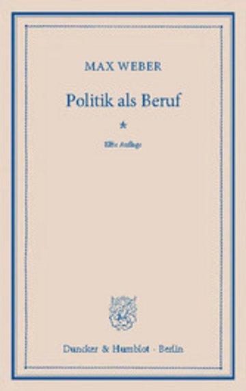 eBook Politik als Beruf. Cover