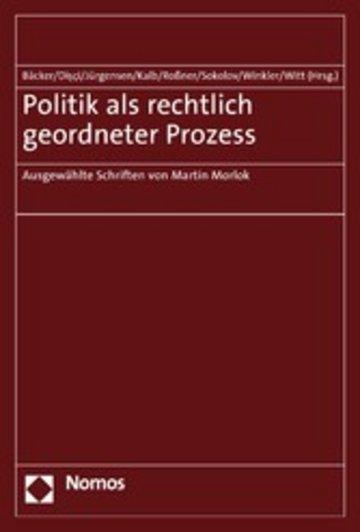 eBook Politik als rechtlich geordneter Prozess Cover