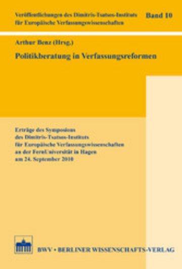 eBook Politikberatung in Verfassungsreformen Cover
