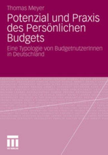 eBook Potenzial und Praxis des Persönlichen Budgets Cover