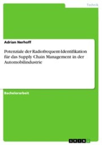 eBook Potenziale der Radiofrequent-Identifikation für das Supply Chain Management in der Automobilindustrie Cover