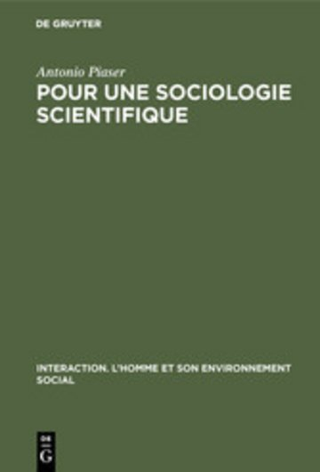 eBook Pour une sociologie scientifique Cover
