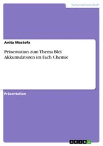 eBook Präsentation zum Thema Blei Akkumulatoren im Fach Chemie Cover