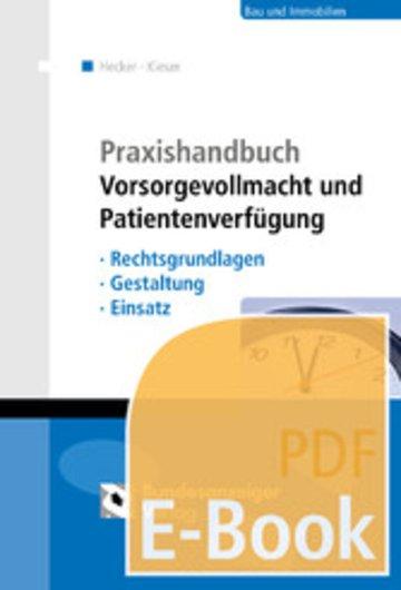 eBook Praxishandbuch Vorsorgevollmacht und Patientenverfügung (E-Book) Cover