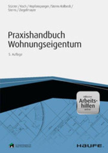 eBook Praxishandbuch Wohnungseigentum - inkl. Arbeitshilfen online Cover