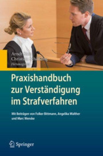 eBook Praxishandbuch zur Verständigung im Strafverfahren Cover