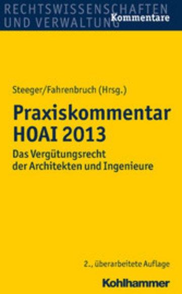 eBook Praxiskommentar HOAI 2013 Cover