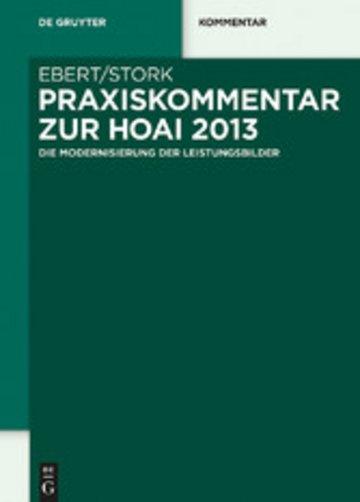 eBook Praxiskommentar zur HOAI 2013 Cover