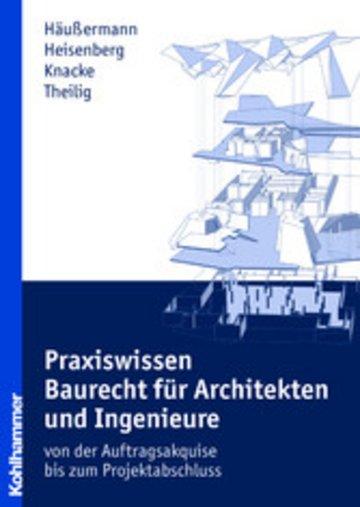 eBook Praxiswissen Baurecht für Architekten und Ingenieure Cover