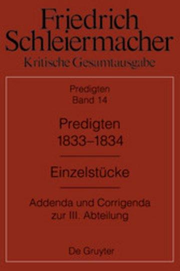 eBook Predigten 1833-1834 Cover