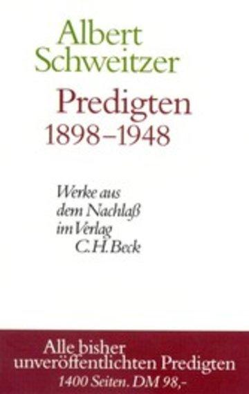 eBook Predigten 1898-1948 Cover
