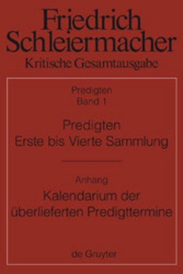 eBook Predigten. Erste bis Vierte Sammlung (1801-1820) mit den Varianten der Neuauflagen (1806-1826) Cover