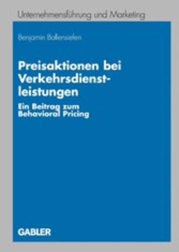 eBook Preisaktionen bei Verkehrsdienstleistungen Cover