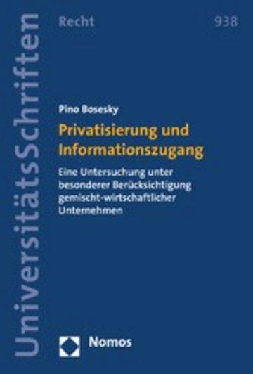 eBook Privatisierung und Informationszugang Cover