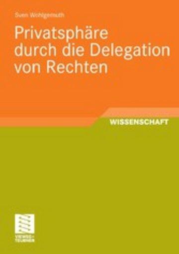 eBook Privatsphäre durch die Delegation von Rechten Cover