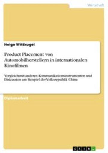 eBook Product Placement von Automobilherstellern in internationalen Kinofilmen Cover