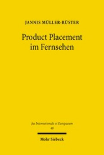 eBook Product Placement im Fernsehen Cover