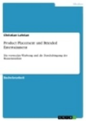 eBook Product Placement und Branded Entertainment Cover