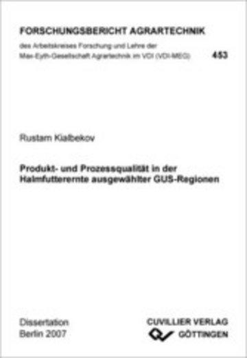 eBook Produkt- und Prozessqualität in der Halmfutterernte ausgewählter GUS-Regionen Cover