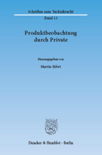 eBook Produktbeobachtung durch Private. Cover
