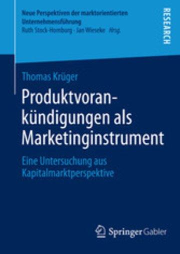 eBook Produktvorankündigungen als Marketinginstrument Cover