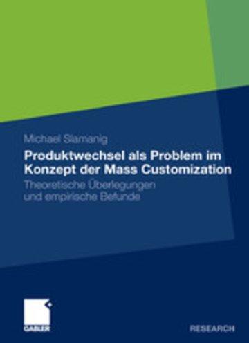eBook Produktwechsel als Problem im Konzept der Mass Customization Cover