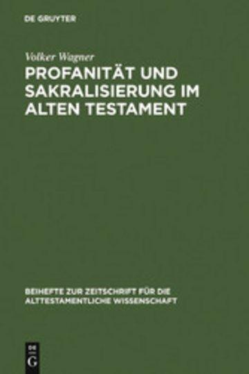 eBook Profanität und Sakralisierung im Alten Testament Cover