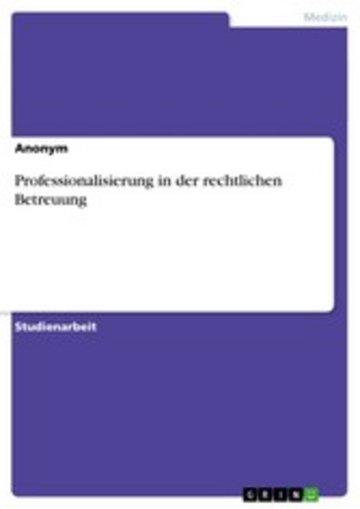 eBook Professionalisierung in der rechtlichen Betreuung Cover