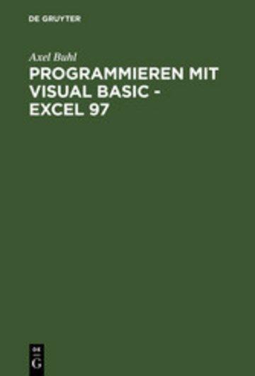 eBook Programmieren mit Visual Basic - Excel 97 Cover