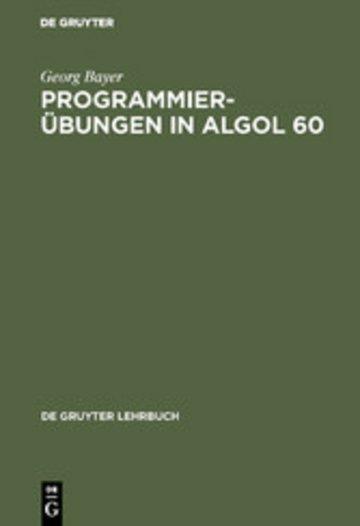 eBook Programmierübungen in ALGOL 60 Cover