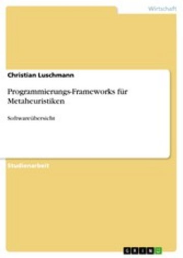 eBook Programmierungs-Frameworks für Metaheuristiken Cover