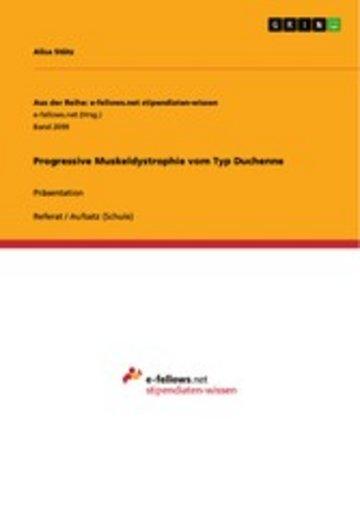 eBook Progressive Muskeldystrophie vom Typ Duchenne Cover