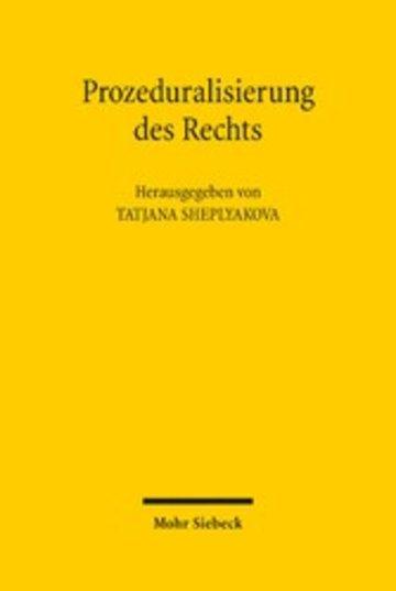 eBook Prozeduralisierung des Rechts Cover