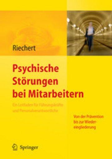 eBook Psychische Störungen bei Mitarbeitern Cover