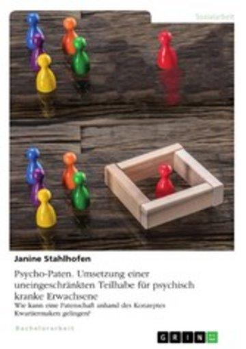 eBook Psycho-Paten. Umsetzung einer uneingeschränkten Teilhabe für psychisch kranke Erwachsene Cover