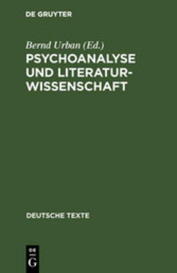 eBook Psychoanalyse und Literaturwissenschaft Cover