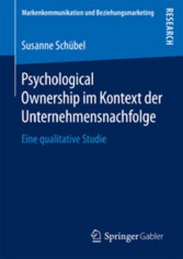 eBook Psychological Ownership im Kontext der Unternehmensnachfolge Cover