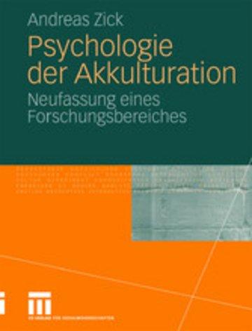 eBook Psychologie der Akkulturation Cover