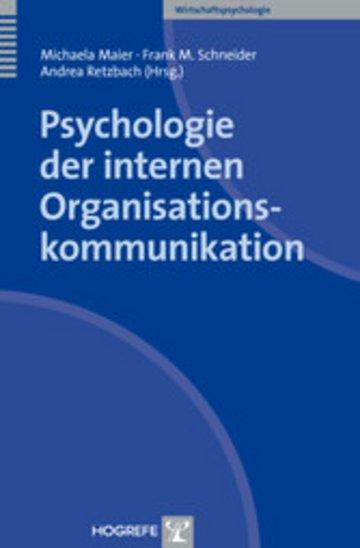 eBook Psychologie der internen Organisationskommunikation Cover