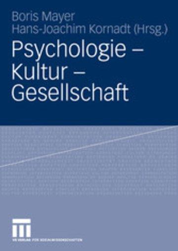 eBook Psychologie - Kultur - Gesellschaft Cover