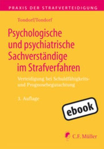 eBook Psychologische und psychiatrische Sachverständige im Strafverfahren Cover