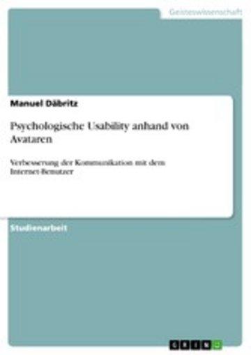 eBook Psychologische Usability anhand von Avataren Cover