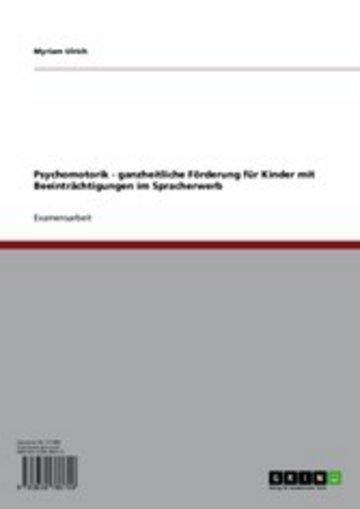 eBook Psychomotorik Cover