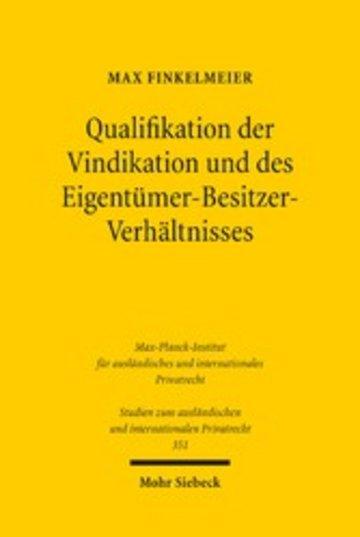 eBook Qualifikation der Vindikation und des Eigentümer-Besitzer-Verhältnisses Cover